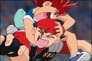 Daichi screams in DJ blader's ear