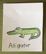 Alligator Begins With A