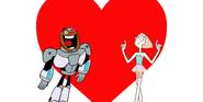 Cyborg x pearl from cartoon network