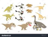 Stock-vector-asian-cretaceous-dinosaurs-vector-containing-tsintaosaurus-velociraptor-feathered-protoceratops-495536512