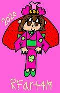 3-9-2020 RFART419 Self Portrait Kimono