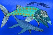 Leedsichthys Liopleurodon