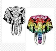 Crayola COloring Book Elephants