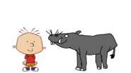 Stanley Griff Meets Pygmy Hippopotamus