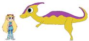 Star meets Parasaurolophus
