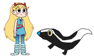 Star meets Striped Skunk