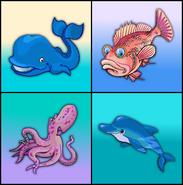 Animals in the sea erinv