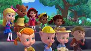 Beanstalk Jack, Goldie Locks, Little Red, Jack Bear, Jack and Jill, and Three Little Pigs
