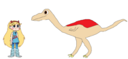 Star meets Gallimimus