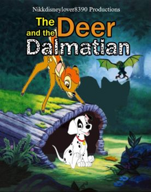 The deer and the dalmatian poster