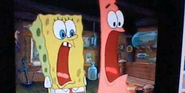 Spongebob and patrick screaming