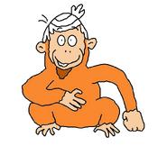 Lincoln as a Bornean Orangutan