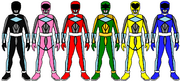 Power Rangers from Power Rangers Injustice