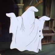 Yogi as bedsheet ghost