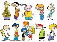 It's Ed, Edd n Eddy characters