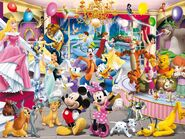 Disney-festival-wallpaper-disney-characters-mickey-donald-princess-prince
