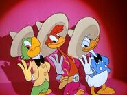 Donald Duck Jose Caroica and Panchito Pitstoles