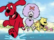 Clifford cleo and t bone are going swimming