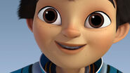 Miles from Tomorrowland Miles' face
