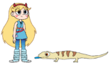 Star meets Blue-Tongued Skink