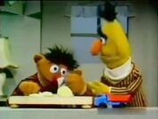 Ernie cuts onions which makes him cry