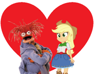 Pepe the King Prawn and Human Applejack love together