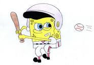 SpongeBob as a Baseball Player