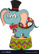 Cartoon-image-of-elephant-wearing-circus-hat-vector-15676158
