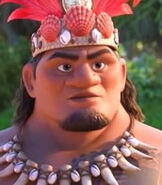 Chief Tui in Moana