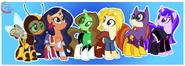DC Superhero Girls as ponies