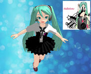Mmd newcomer delicious miku by false prophetess-d35ro74