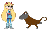 Star meets Olive Baboon