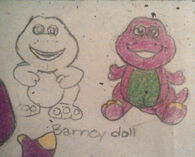 My Sketch Redesign of the Barney doll
