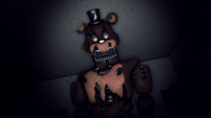 Not even home is safe nightmare freddy poster by scruffygamer-d9a6t0i