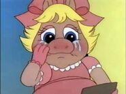 Piggy sheds tears