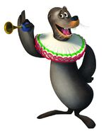 Stefano the circus sea lion