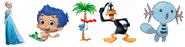 Wooper, Elsa, Gil, Coco & Daffy Duck