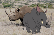 Horney and Real Black Rhino