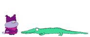 Chowder meets Saltwater Crocodile