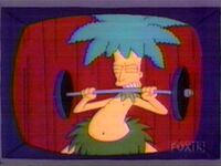 Sideshow Bob with blue hair