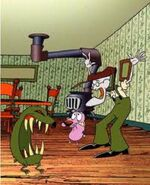 It's Courage, Eustace and the Weremole