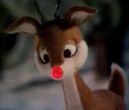 Rudolph his nose is going out