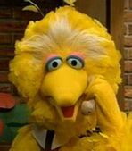 Big Bird in Elmo Saves Christmas