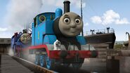 Thomas the Tank Engine (from Thomas and Friends) as Azul the Little Blue Train