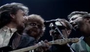 George Harrison, Jeff Lynne, Elton John and Eric Clapton Singing