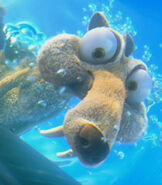 Scrat in Ice Age Continental Drift