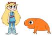 Star meets Capybara