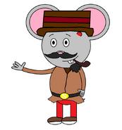 Mr. Einstein Hamster (secret agent) (pipe)