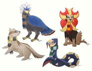 Pokémon as Hogwarts Mascots