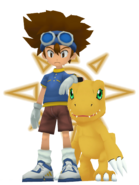 Tai & Agumon (Digimon) as The Patrolman